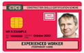 Red Experienced worker (Temporary card)