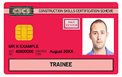 Red trainee card